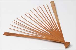 A Chinese bamboo fan