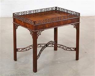 George III style mahogany silver table by Baker