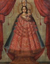 Spanish Colonial School, Madonna and Child