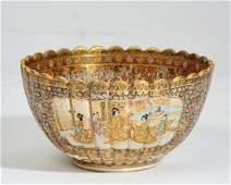 A Japanese Satsuma porcelain bowl