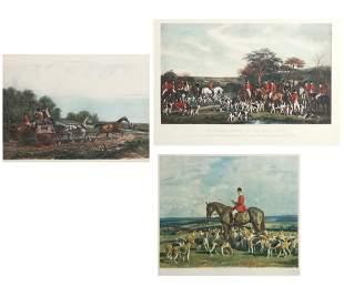 Three English sporting prints