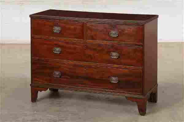 George III mahogany chest of drawers
