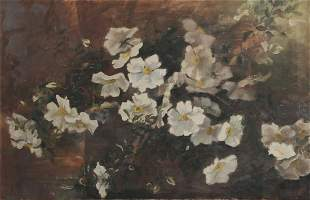 American School, Still life with white roses