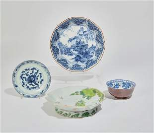 A group of Chinese porcelain dishes and bowls