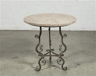 Las Palmas Design 'Aragon' limed oak, iron table