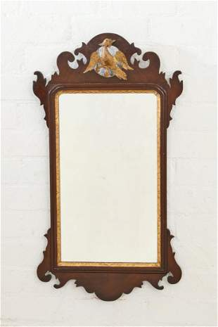Chippendale style parcel gilt mahogany mirror