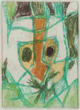 Jean Varda, Portrait in the Abstract, lithograph