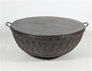 An African tribal drum