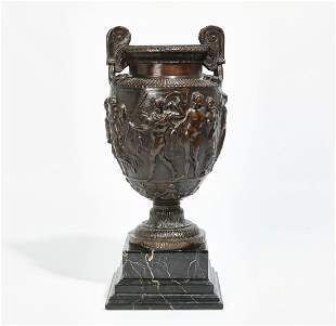 English bronze model of the Townley Vase, 1871