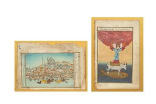 Two Turkish framed paintings
