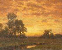 William Crothers Fitler, Landscape, oil on canvas
