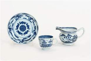 Three Chinese porcelain table articles