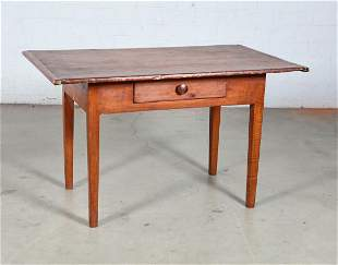 New England tiger maple and pine tavern table