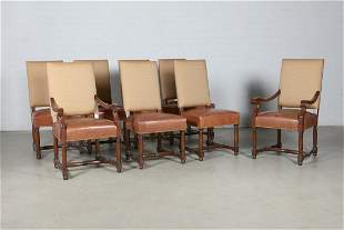 A set of eight Baroque style dining chairs