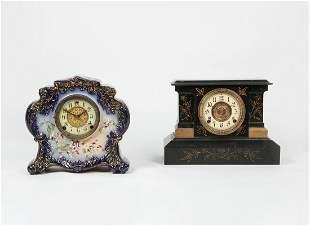 William L. Gilbert Clock Company porcelain clock