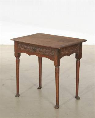 George II carved oak table, 18th century & later