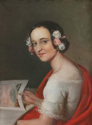 English School (19th century), oil on canvas