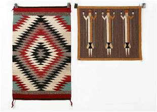 Two Navajo woven rugs