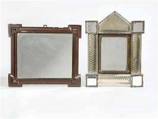 A Mexican tin architectural mirror, 20th century