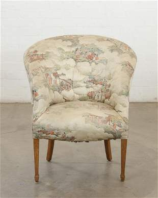 George III style fully upholstered tub armchair