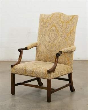 Dennis & Leen George III style library armchair