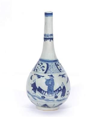 Chinese porcelain bottle vase, late Ming Dynasty