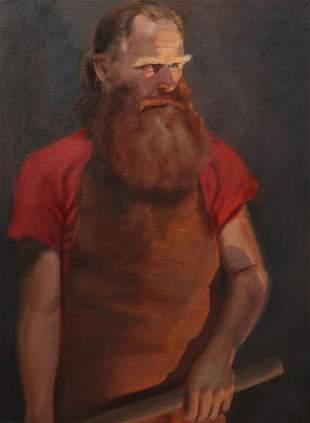 Continental School, Portrait, oil on canvas
