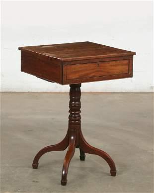 George III inlaid mahogany work table