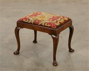 George II style carved walnut stool
