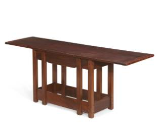 Arts & Crafts style mahogany hall table