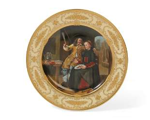 Lamm Dresden porcelain plate: Breakfast