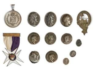 Seven Greco Roman silver coins & medals