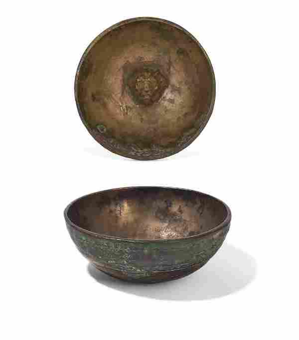 Roman bronze bowl