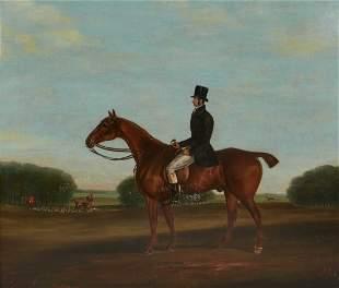 William Robinson, oil, equestrian chestnut hunter