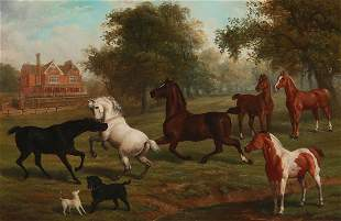 Edward Herbert, horses & dogs, Silkwood House