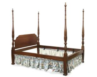 George III style mahogany four post bed