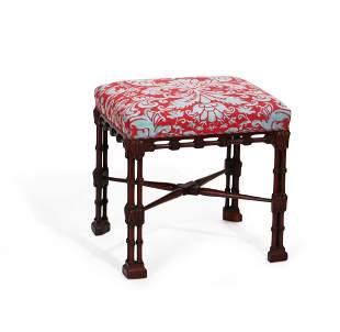 George III style mahogany stool