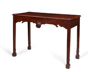 Irish George III mahogany side table