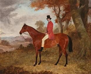 Att. Richard B Davis, equestrian Bay hunter, horse
