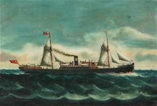English School, oil, British Merchant Navy ship