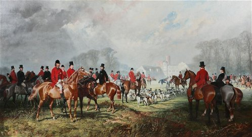 Joseph F Walker, The Meet, oil on canvas