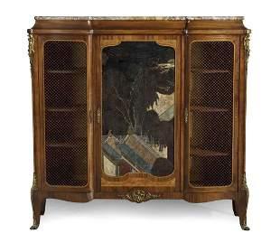 Francois Linke lacquer mahogany side cabinet
