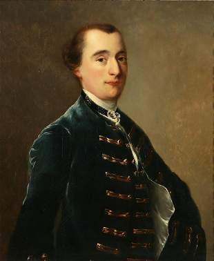 English School, oil, Portrait of a Gentleman