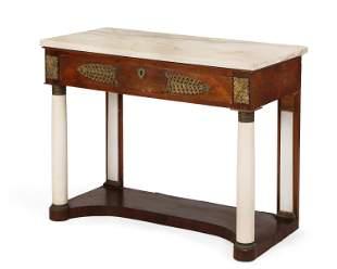 Austrian Empire mahogany marble console