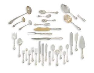 Large Gorham sterling silver Versailles flatware set