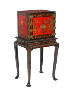 A George I style cabinet on stand