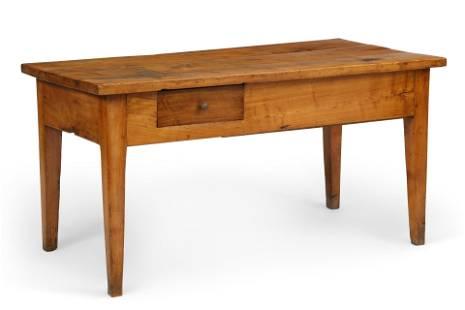 A Continental fruitwood farmhouse table