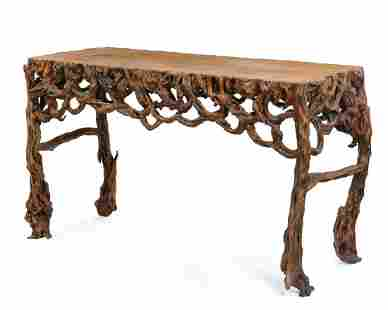 A Chinese rootwood center table