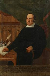 Spanish Colonial School, Priest at his desk