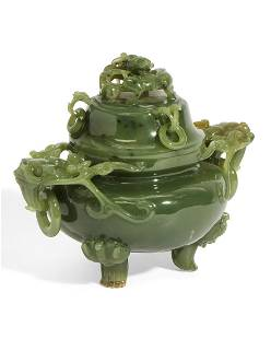 A Chinese nephrite censer